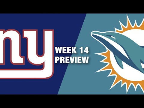 Giants vs. dolphins preview (week 14) | nfl