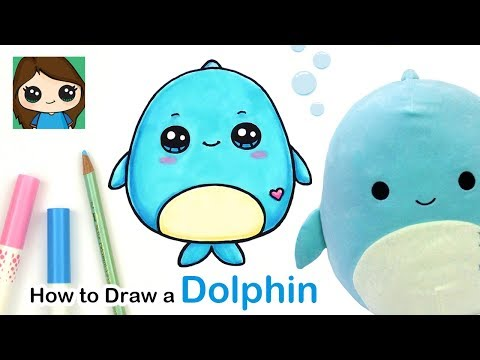 How to draw a baby dolphin easy   squishmallows