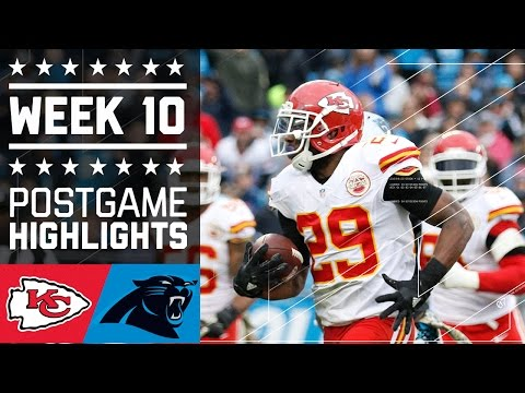Chiefs vs. panthers | nfl week 10 game highlights (2016)