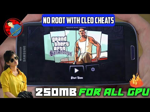 【200mb】how to download gta san andreas in android with cleo cheats [no root] || hindi ||