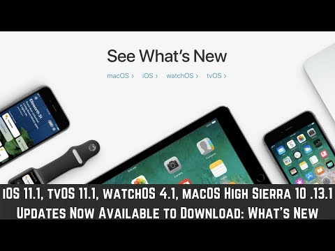 Ios 11.1, tvos 11.1, watchos 4.1, macos high sierra 10.13.1 updates now available : what's new