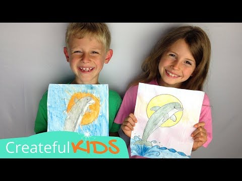 How to draw a dolphin | art lesson for kids